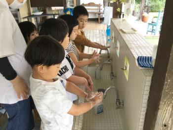 今月の食育「手洗い上手にできるかな?」